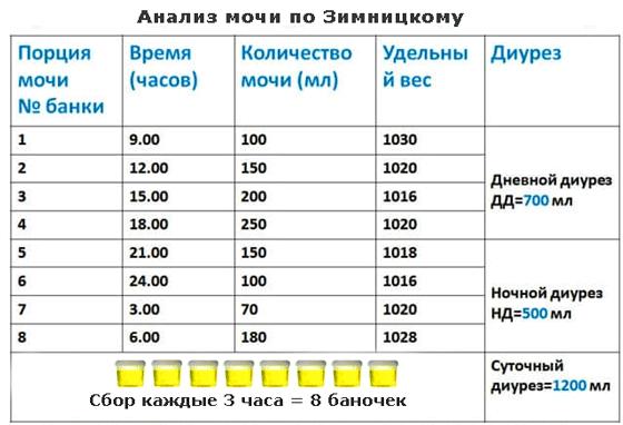 Анализ мочи по зиницкому Справка НД для госслужбы Южная улица (поселок совхоза Крекшино)