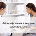 Расшифровка результатов анализа ХГЧ