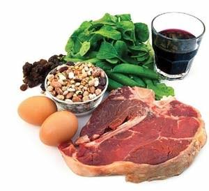 на картинке представлены продукты, которые поднимают гемоглобин
